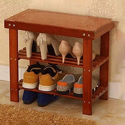 GDEVNSL Bambou Marron Chaussures Banc Chaussures Banc Petites Chaussures Cadre Hall Chaussures Simples Modernes Chaussures Banc Meuble À Chaussures