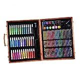 148pcs Deluxe Arte para Niños con Lápices De Madera del Color De La Caja Marcadores Lápices De Colores Pasteles del Aceite Acuarela Pintura Suministros De Belleza