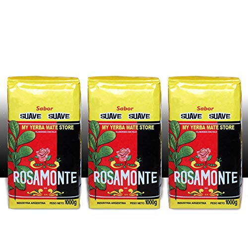 Yerba Mate Rosamonte Suave x 3 KG Argentina Tea 6.6 lb