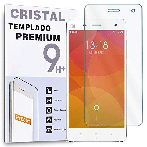 REY Protector de Pantalla para Xiaomi M4 Mi4 Cristal Vidrio Templado Premium