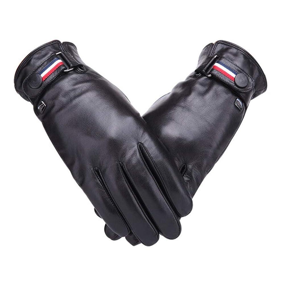 うま販売計画ハイランド羊皮の手袋の男性秋と冬のサイクリングwindproof暖かいプラスベルベットの肥厚の男性の手袋