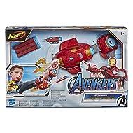 NERF Power Moves Marvel Avengers Iron Man Repulsor Blast Gauntlet NERF Dart-Launching Toy for Kids R...