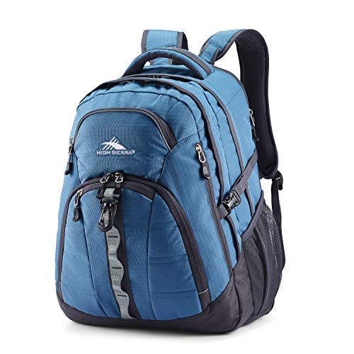 High Sierra Access 2.0 Laptop Backpack, One Size, Graphite Blue/Mercury