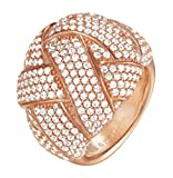 ESPRIT Glamour Damen-Ring ES-LILAIA ROSE teilvergoldet Zirkonia transparent Gr. 60 (19.1) - ESRG02291C190