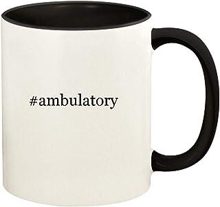 #ambulatory - 11oz Hashtag Ceramic Colored Handle and Inside Coffee Mug Cup, Black