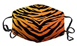 WuCong Facial Decorations Shield Comfortable Cotton Adujustable Anti Dust 3-layers Protective (Tiger print)