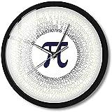CXSMKP Orologio da Parete con Luce di Controllo del Suono Rapporto costante Circolare Quiet Sweep Quartz Costante Matematica Pi Greco Lettera 3.14 Orologio12Pollici
