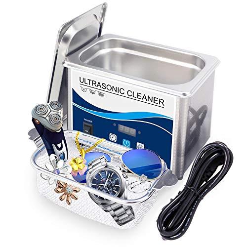 DAND Ultraschallreinigungsgerät,Ultraschallreiniger 800ml 40KHz mit Digitaler Zeitschaltuhr und Korb Ultraschallbad Reinigung für Zahnprothesen Brillen Uhren Zubehör Tattoo Werkzeuge Metall,800ML