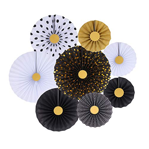 Mejor ADLKGG Colorful Hanging Paper Fans Decoration Round Pattern Paper Garlands Set for Party Birthday Wedding Events Accessories, Mix Set of 6 crítica 2020