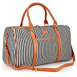 Large Women Weekender Bag,AIZBO Canvas Overnight Weekend Bag Travel Duffel Tote Bag Sports