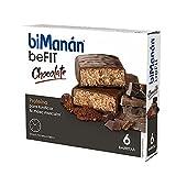 BiManán beFIT - Barritas de Proteína Sabor Chocolate, para Tonificar tu Masa Muscular - Caja de 6 unidades