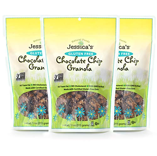 Jessica's Natural Foods, Gluten-Free Chocolate Chip Granola 11oz (PACK of 3)