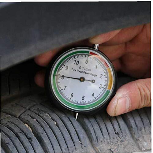 Odoukey Zeiger Typ Tread Lineal Zylindrische Messstab Autoreifenverschleiß Messwerkzeug 0-11mm