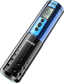Mast Tattoo Pen Machine Draadloze Batterij LCD Display Rotary Tattoo Machine Blauw Kleur