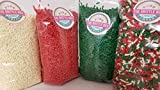 Christmas Sprinkles Jimmie Toppings 4 Pack One Pound Bags Each