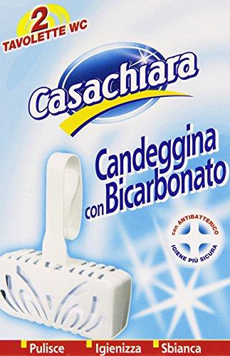 Casachiara - Tavolette Wc, Candeggina Con Bicarbonato - 80 G (Confezione Da 2)
