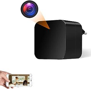 Camara Espia Oculta WiFi Cargador USB 1080P HD Mini Cámara Inalámbrica TANGMI Detección de Movimiento Cámara de Seguridad ...