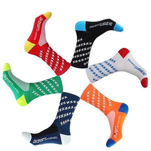 langchao Calcetines para andar en bicicleta en el tubo deportes correr calcetines de senderismo al aire libre transpirables resistentes al desgaste
