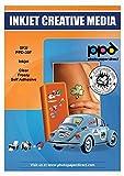 PPD Inkjet - A4 x 10 Pegatinas de Vinilo Autoadhesivo Semi-Transparente Imprimibles de Grado Comercial - Calidad Fotográfica y A Prueba de Desgarro - Para Impresora de Inyección de Tinta - PPD-39F-10
