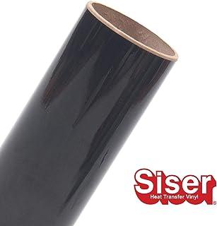 (Black) - Siser EasyWeed Heat Transfer Vinyl HTV for T-Shirts 30cm by 3m Roll (Black)