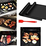 Kindes High Temperature Resistance BBQ Grill Mat Not Sticky Glass Fiber Barbecue Mat Outdoor Cooking Tools