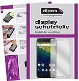 dipos I 5X Schutzfolie klar kompatibel mit Google Nexus 6P Folie Bildschirmschutzfolie