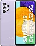 Samsung Galaxy A52 5G Smartphone, Display Infinity-O FHD+ da 6,5 pollici, 6GB RAM e 128GB di memoria interna espandibile, Batteria 4.500 mAh e Ricarica Ultra-Rapida Violet Vodafone [Versione Italiana]