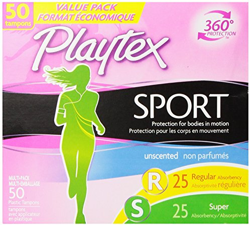 Playtex Sport Tampons with Flex-Fit Technology, Regular & Super Multi...