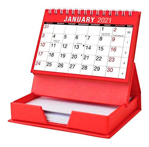 Calendario de escritorio y bloc de notas