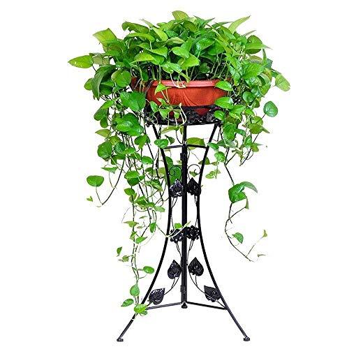 WGZ- Flower Stand Pflanze Dekorative Metall Garten Terrasse Stehen Stehen Blumentopf Ausstellungsstand Standplatz Einfach (Color : Black, Size : Medium)