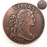 FKaiYin 1797 Antike Liberty One Cent Replik Old Coin American Lucky Old Coin - US Old Coins - Unzirulated Hobo Nickel USA Morgan Dollar Coin Future Experience -