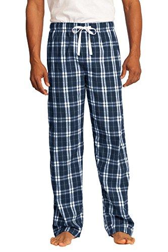 District® - Young Mens Flannel Plaid Pant. DT1800 True Navy 2XL