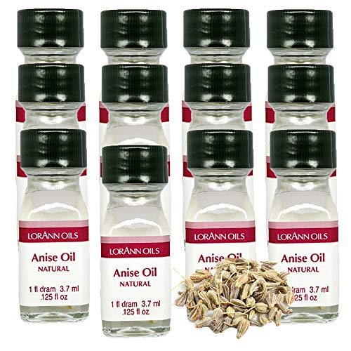 LorAnn Anise Oil Super StrengthNatural Flavor, 1 dram bottle (.0125 fl oz - 3.7 ml) - 12 pack