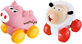 Educational Toy for Baby Kid 2 Pcs Kids Cartoon Scooter Toy Lamb and Piglet Modeling Car Early Childhood Educational Toys