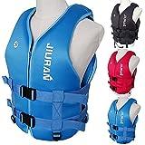 Beylore Giubbotto Salvataggio Kayak Neoprene per Adulti, Aiuto al Galleggiamento Gilet da Nuoto Galleggiabilità Giubbotti di Salvataggio per Pesca Nuoto Surf Immersioni Sport Acquatici,Blu,XL
