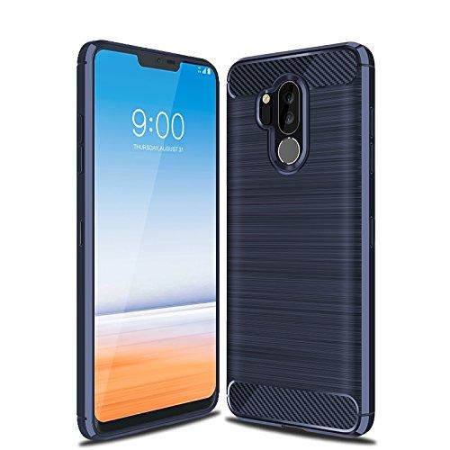 Cruzerlite LG G7 hülle, LG G7 ThinQ hülle, LG G7 Schutzhülle, Carbon Fiber Shock Absorption Slim TPU Cover Schutzhülle für LG G7/ LG G7 ThinQ (Blue)