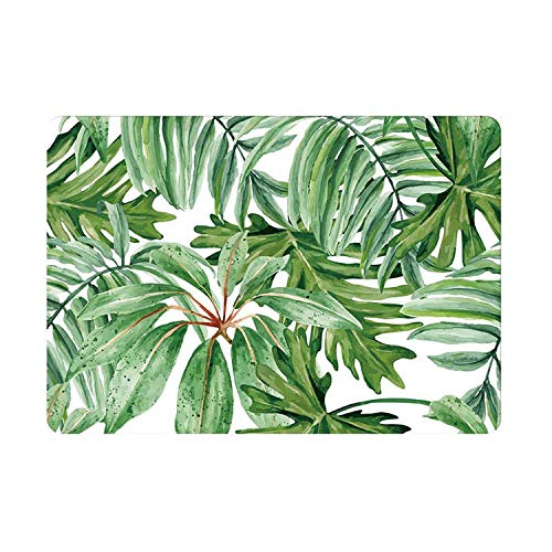 Green Leaves Painting Laptop Skin Sticker for Macbook Decal Pro Air Retina 11 12 13 15 inch HP Mac Book Full Cover Notebook Skin-A side-Pro 15 inch A1286