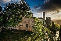 ERZAN1000ピース ジグソーパズルモンテスクダーイオピサトスカーナイタリアの古代の村完成サイズ70×50cm