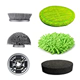 GOOD PAPA Electric Spin Scrubber, Rechargeable Battery Bathroom Scrubber,Power Scrubber Removable Handle,with 5 Replaceable Brush Heads, Power Scrubber for Tub, Tile, Bathtub