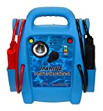Allstart 556 Marine Jump Starter with AC Inverter, Multi-Position Light, 4 Gauge Cables, Cable Clamps, Battery Status Indicator. Automotive Accessories