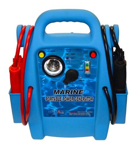 Buy Discount Allstart 556 Marine Jump Starter with AC Inverter, Multi-Position Light, 4 Gauge Cables...