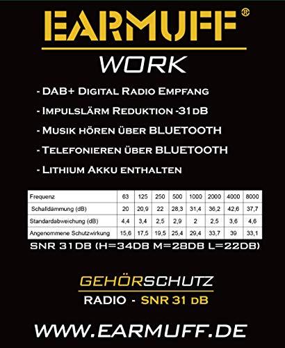 3M BLUETOOTH SNR 24db Digital Radio Gehörschutz Kopfhörer - 6