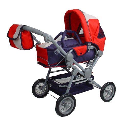 Knorr 10810 - Twingo Puppenwagen Rot Blau