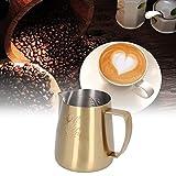 Taza para hacer espuma, diseño de cisne para el hogar, jarra para hacer espuma, boquilla antigoteo de acero inoxidable para leche para café moka