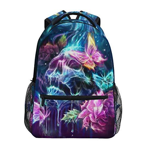 Skull Butterfly Backpack School Bookbag for Boys Girls 2110004