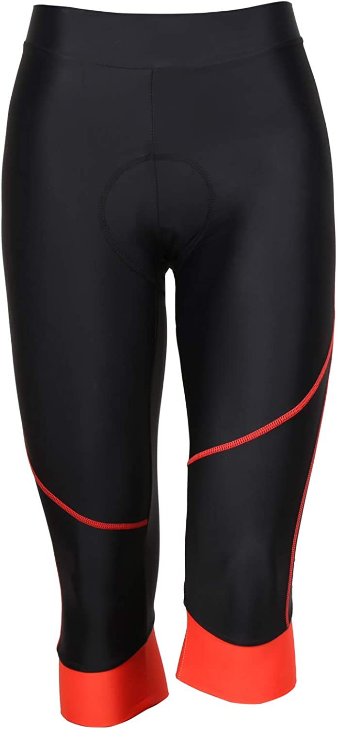 Tesden Women's Cycling Capri Shorts Be super welcome Padded Sho Bicycle Wholesale Riding 3D