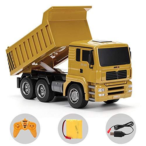 RC Auto kaufen Baufahrzeug Bild 2: RC-Muldenkipper, 1:16 Allradantrieb-Fernbedienung Muldenkipper-LKW, schweres Baufahrzeug, Hobby-Spielzeug - Geschenk für Kinder , Maximale Belastung: ca. 1 kg*