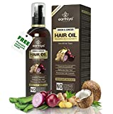 EARTHIYA Onion Oil with Ginger- Helps in Hair fall Control, Hair growth, Anti dandruff with 14 Essential Oils 18 Natural Extracts,...