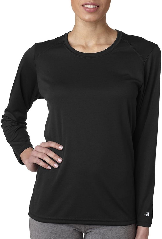 4164 Badger Ladies' BDry Core LongSleeve Tee Black