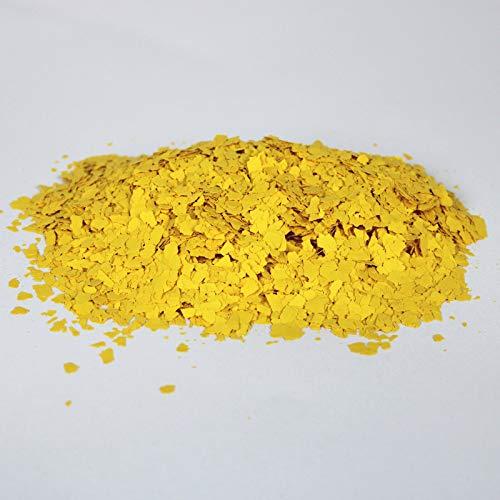 BEKATEQ BK-130 Farbchips, 1kg Gelb, Dekochips für Epoxidharz Bodenbeschichtung, Bodenfarbe